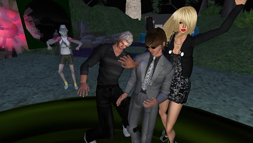 xavier, ohmy, raftwet in second life virtual world party