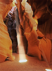 Antelope Canyon (David Shield Photography) Tags: longexposure arizona sun color cathedral canyon page coloradoriver chamber lakepowell slotcanyon antelopecanyon navajosandstone shaftoflight navajonation coth upperantelopecanyon colorphotoaward tsebighanilini lecheechapter flickraward5