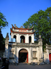 Temple of Literature (Vn Miu) (Back to Nothing) Tags: travel canon tour vietnam hanoi templeofliterature  g9 vnmiu quoctugiam earthasia ascendingdragon