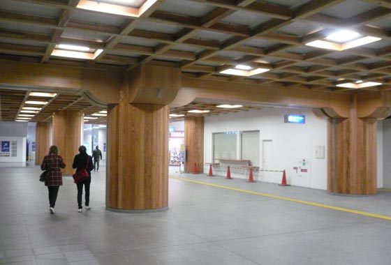 Nara station is udnergoing construction to give it a more classic feel