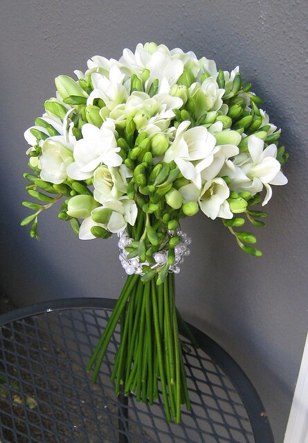Flowers in september wedding planning discussion forums are going for then you could use white freesia which are highly scented and delicate flowers they look lovely in a bouquet or even as single flowers in mightylinksfo