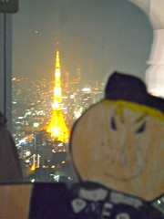 Flat Everett and Tokyo Tower