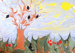 kedicik (ebruzenesen - esengül) Tags: water traditionalart papermarbling portre ebru sanat sanatı marbeling ebrusanatı artonthewater marblingart artofebru artofmarbling ottomanartofmarbling decoratedpapers turkishpainting artturkish gelenekselsanat workshoppaperart ebruzenesen