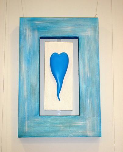 Quadro Coração- azul by SMAC colours