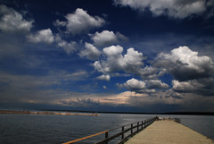 Waskesiu Lake (Harry2010) Tags: park cloud lake canada landscape day cloudy bluesky saskatchewan princealbertnationalpark waskesiulake