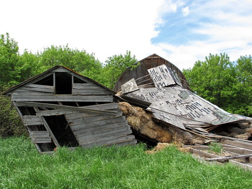 Abandoned shed and barn