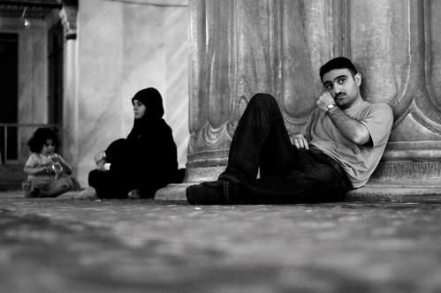 Familia en la mezquita