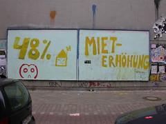 48% Mieterhhung (Michelle Foocault) Tags: streetart berlin cutout billboard owl gentrification noteart neuklln adbusting idn 4rtistcom weserstr
