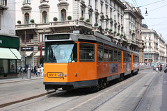 Elettromotrice 4913 in Via Orefici (Andrea Zaratin) Tags: milano tram via 16 monte duomo 4900 atm velino tpl 4913 orefici