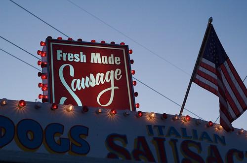 Fresh made sausage