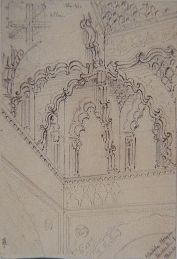 Cordoba Mosque. Pendentive (22/03/1865)