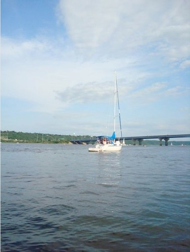 bridge lake water sailboat river mississippi boat sailing
