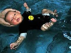 Baby Snug in water Navy