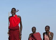 Maasai warrior jumping during a traditional dance - Kenya (Eric Lafforgue) Tags: africa people kenya culture tribal tribes afrika tradition tribe ethnic kenia tribo headdress afrique headwear ethnology headgear tribu eastafrica qunia lafforgue ethnie 8115  qunia    kea   ethhnic  a