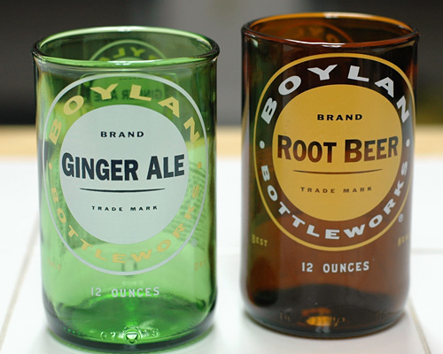 YAVA Glass - Upcycled Boylans Soda Bottle Glasses