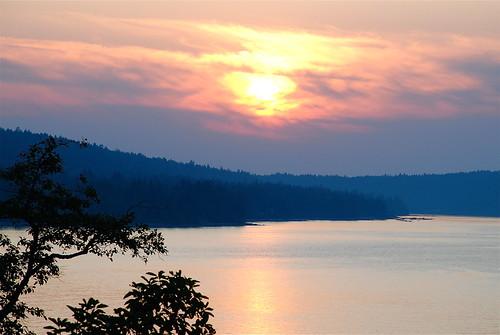 Sunset, Gabriola Island, BC