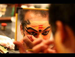 Kathakali Makeup | BCKA (@k@sh) Tags: club canon 350d 50mm for bangalore scout read f18 kathakali akash malleswaram explored xplore artsbcka tadka09wk33 ppdec
