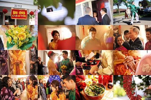 Wedding Tea Ceremony Collage
