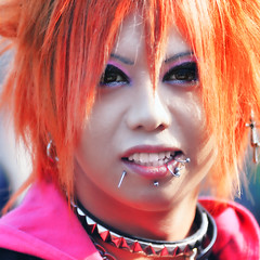 Associated Subculture (ajpscs) Tags: street portrait girl strange face fashion rock japan modern silver hair asian japanese tokyo weird nikon asia punk cosplay streetphotography makeup freaky odd harajuku  pierce nippon  queer bizarre extraordinary stylish offbeat  wickedstyle  peculiar  d300  uncommon tokyostreet  ajpscs kosupure moderngeisha newgeisha