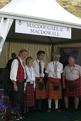 Clan MacDougall & Clan MacDowall Tent at The Gathering 09