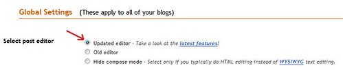blogger editor