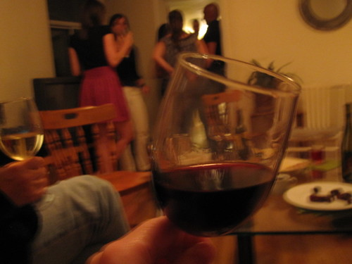 Wine at Ellen's housewarming party - free