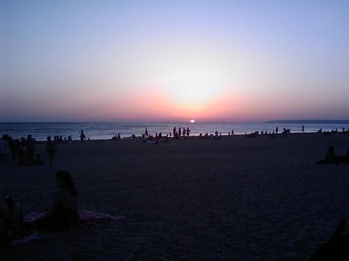 Puesta de sol en Zahara