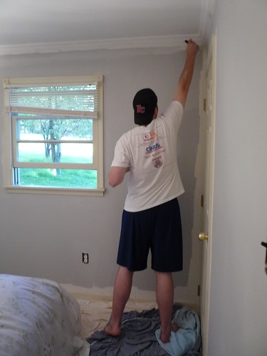 Ben painting the guest bedroom by you.