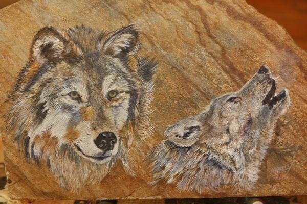 wolf painting caroline