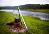 a pot on a fire by the river (czdistagon.com) Tags: czcontaxdistagon3514 cz contax distagon 3514 dof landscape nature fishing sonyphotochallenge czdistagon czdistagoncom aleksandrmatveev ear fire pot nobody river carlzzeiss zeiss volga