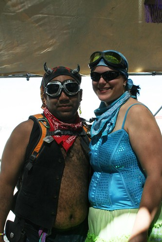 At Camp Jersey, Tuesday, Burning Man 2009. Photo by Meesh