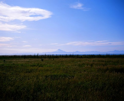 Alaska Range volcano and Cook Inlet.