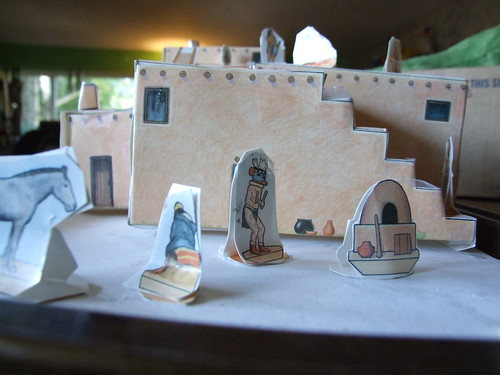 model of a pueblo