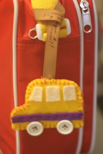 handmade schoolbus tag