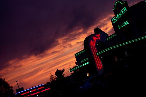 sunsets & neon