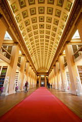 A fairly wide-angle view of The Playfair Library