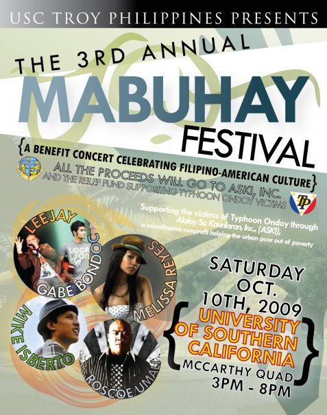 Mabuhay Festival 2009 flyer