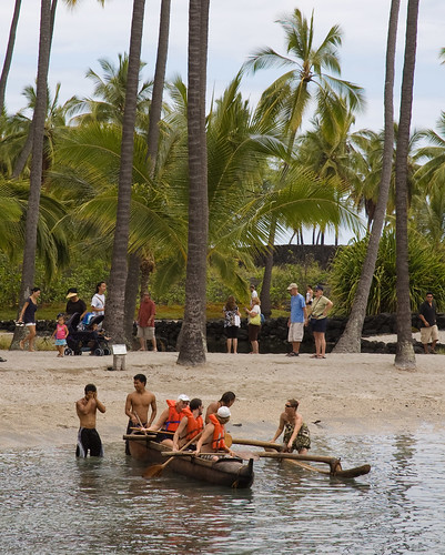 Learning to row an outrigger canoe