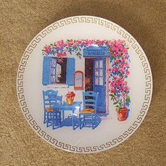 "Glass Plate ""Greece"""