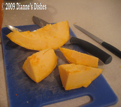 Roasted Pumpkin: Cut Into Chunks