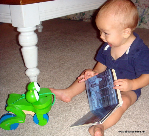 reading to the frog :)
