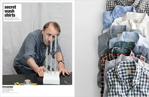 Vito Acconci, as seen on page 26 of the October Mens J. Crew catalog.