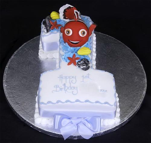 Figure One with Nemo Sugarpaste Model Birthday Cake
