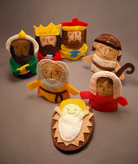 Finger Puppet Nativity (abbey*christine) Tags: christmas joseph shepherd mary jesus felt custom fingerpuppets nativity wisemen customorder abbeychristine