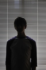 144/365 (Christopher Saccaro) Tags: new york city portrait lines fashion silhouette horizontal self technology institute blinds backlighting 365days nikond40