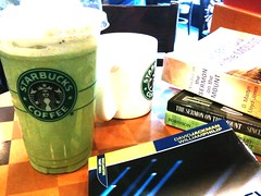 Green Tea Frap and Good Snacks on Sunny Sunday Afternoon