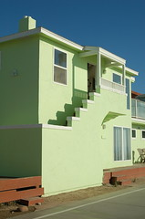 Green House, Mission Beach (Rob Bellinger) Tags: green beach shadows pacific stucco