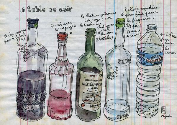 chabrol, rosé, gobinaud, elixir… et eau