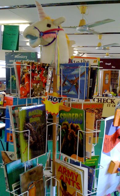 Spinner rack of animal books