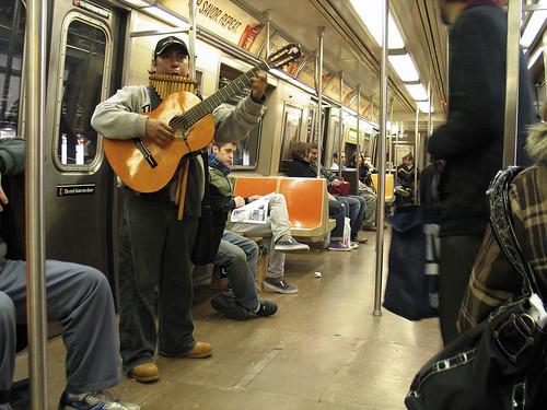 Subway Musician, NYC
